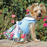 image of dog wearing dress
