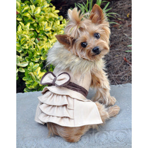 image of doggie coat harness