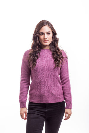Open image in slideshow, Ladies Crew Neck Lace Jumper