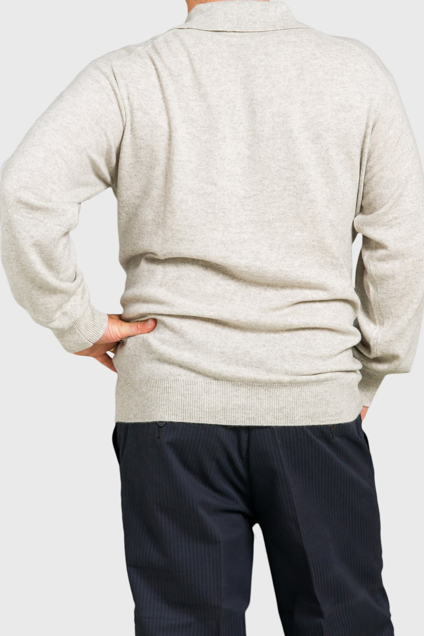 Trish Gregory Cashmere Men's Tab Sweater