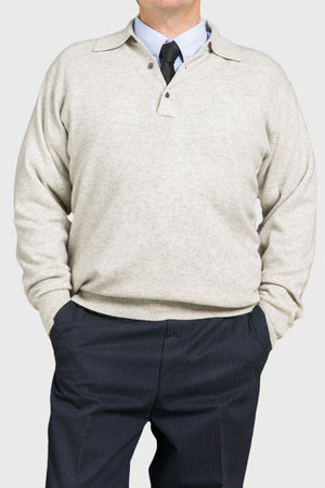 Open image in slideshow, Trish Gregory Cashmere Men's Tab Sweater