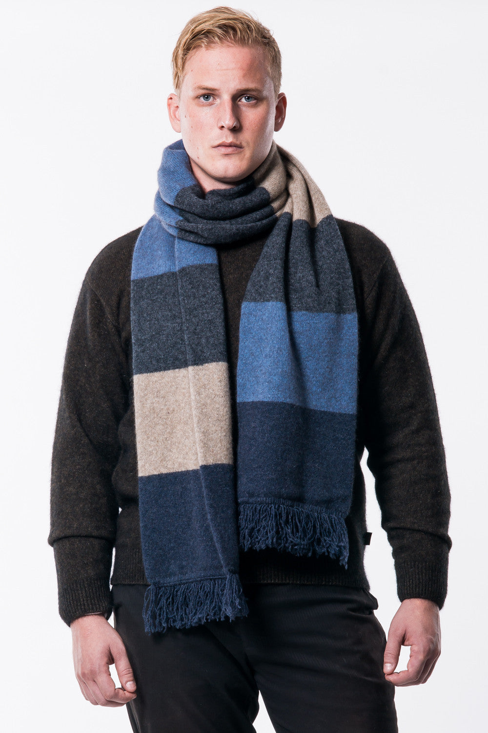 Long 'Doctor Who' Possum Merino Scarf