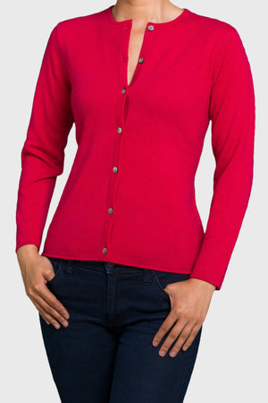 Open image in slideshow, Trish Gregory Cashmere Crew-Neck Cardigan