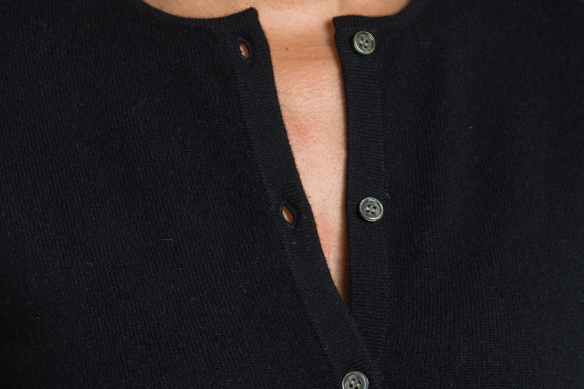 Trish Gregory Cashmere Crew-Neck Cardigan