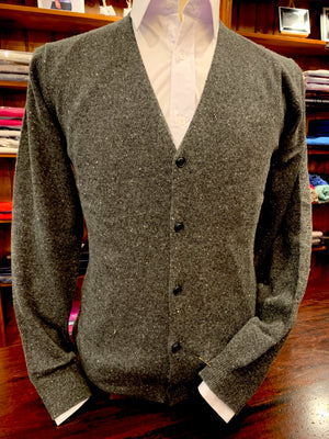 Open image in slideshow, Trish Gregory Cashmere Men's V-Neck Cardigan