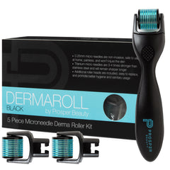 DERMAROLL BLACK by Prosper Beauty (5 Piece Microneedle Derma Roller Kit 0.25mm)