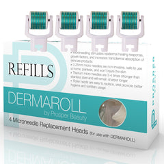 DERMAROLL REFILLS 0.25mm by Prosper Beauty (4 Roller Heads 0.25mm - NO HANDLE, ROLLER HEADS ONLY)