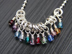 Birthstone Crystal Dangle