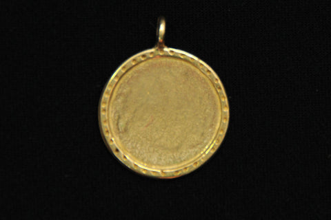brass disk with textured edge