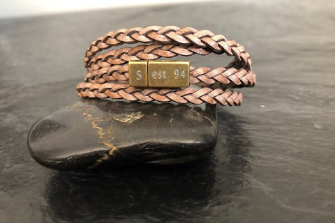 quadruple wrap with personalized clasp