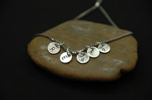 personalized intial necklace