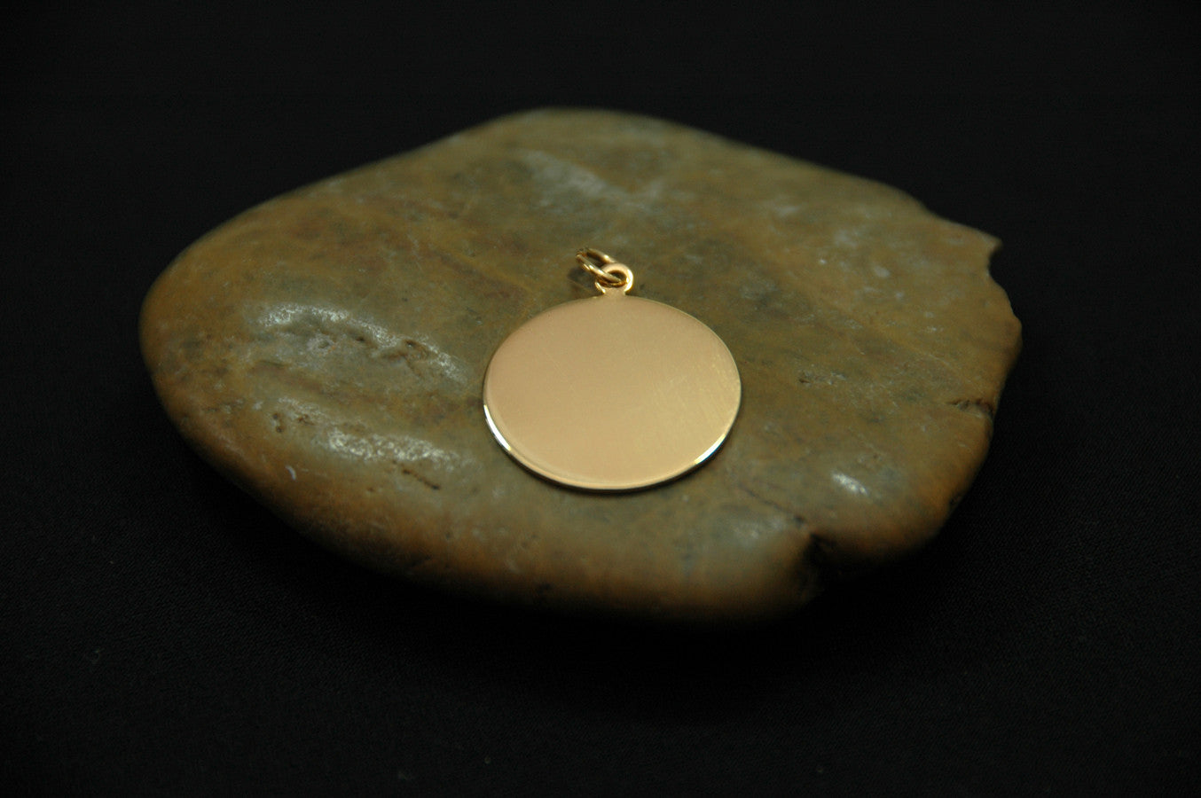 large gold-filled disk