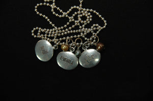 personalized oval tag necklace