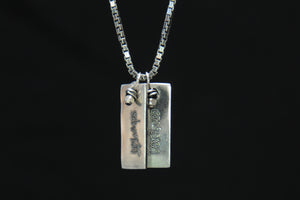 personalized skinny tag necklace