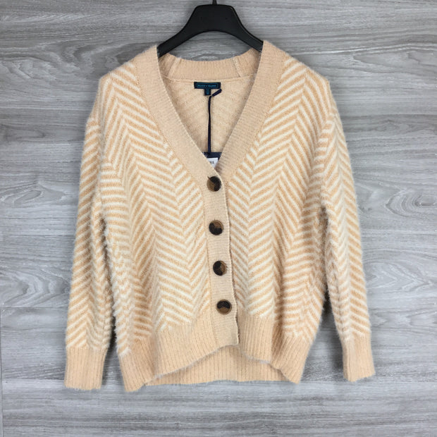 Select + Trend Stripped Button Cardigan