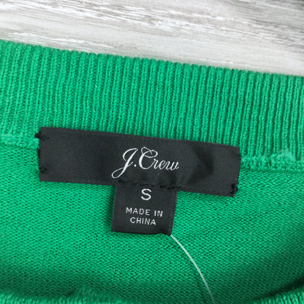 J. Crew Green Front Button Knit Cardigan