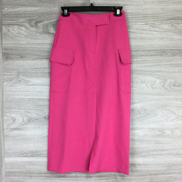 Topshop Utility Midi Skirt In Pink Cargo