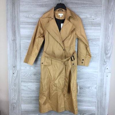 Topshop Belted Camel Trench Coat