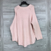 Lou & Grey Pink Heavy Knit Sweater