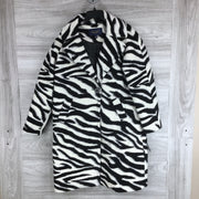 RACHEL RACHEL ROY Water Repellent Zebra Print Coat