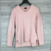Sanctuary Pink V Neck Textured Sweater
