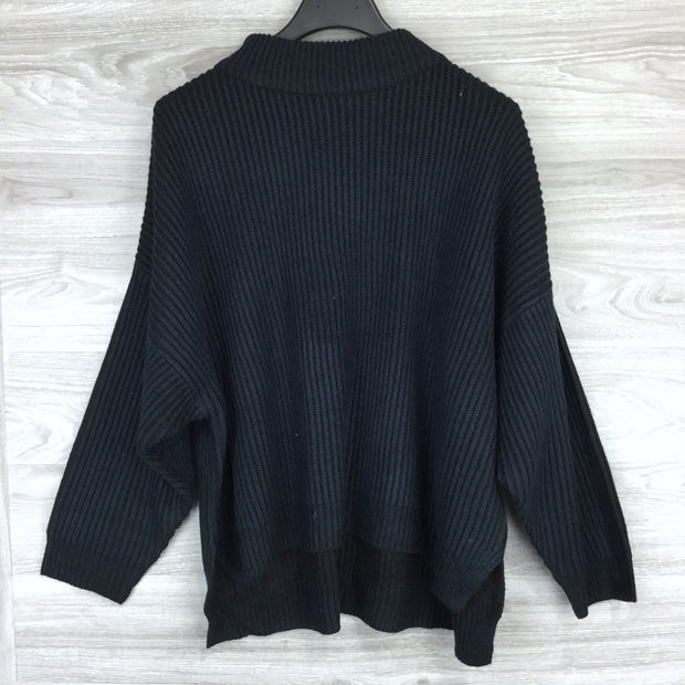 Topshop Heavy Knit Cowl Neck Sweater