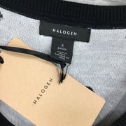 Halogen Patterned Crew Neck Knit Tank Top