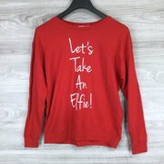 South Parade Let's Take An Elfie Sweatshirt In Red