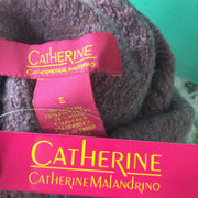 Catherine Malandrino Purple Cozy Eyelash Knit Turtleneck Sweater