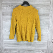 Ceny Eyelash Knit Mock Neck Sweater