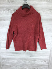 Catherine Malandrino Maroon Cozy Eyelash Knit Turtleneck Sweater