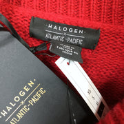Halogen Turtleneck Stripe Cable Knit Sweater