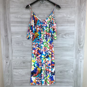Rachel Pally Jae Cold Shoulder Patterned Dress