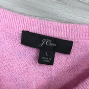 J. Crew Pink Short-Sleeve Knit Supersoft Yarn Sweater