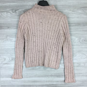Madewell Speckled Ribbed Turtleneck Sweater