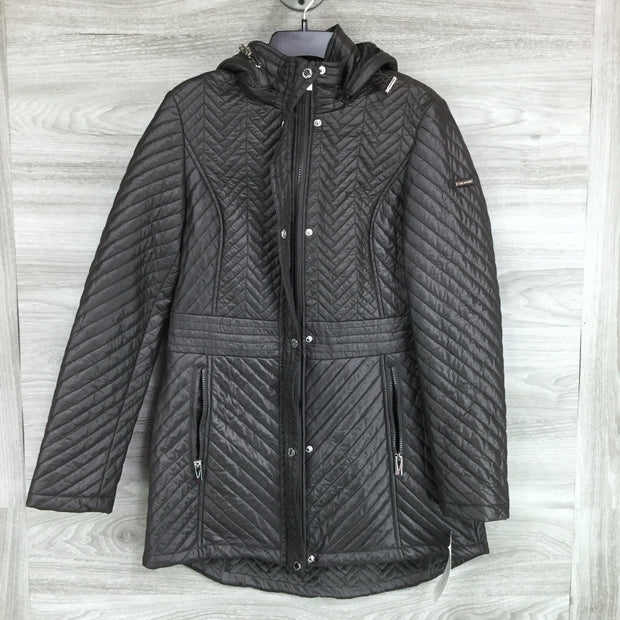 Via Spiga Quilted Hooded Anorak