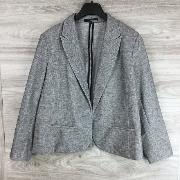 Amanda & Chelsea Notch Lapel Rib Knit Blazer