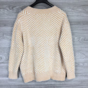 Select + Trend Cream/Ivory Cardigan Sweater