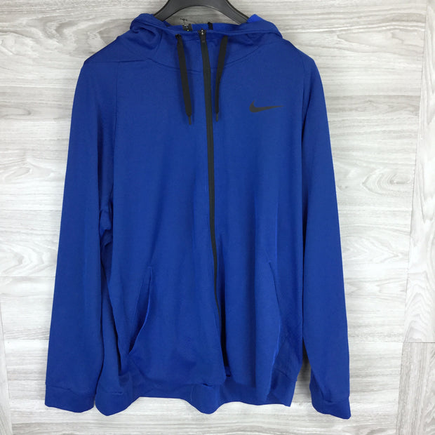 Nike Blue Therma Hoodie Zip Up Sweater