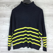Vince Camuto Striped Turtleneck Lightweight Sweater