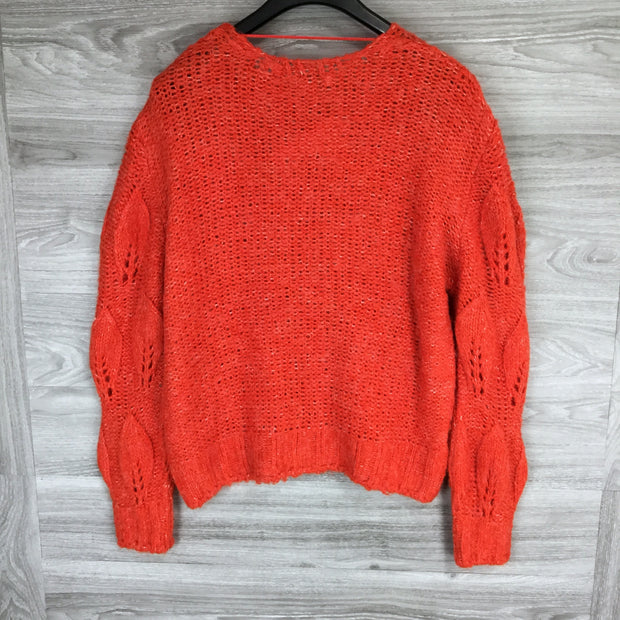TOPSHOP Petal Pointelle Sweater
