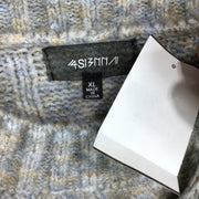 4S13NNA Blue Knitted Long Sleeve Sweater