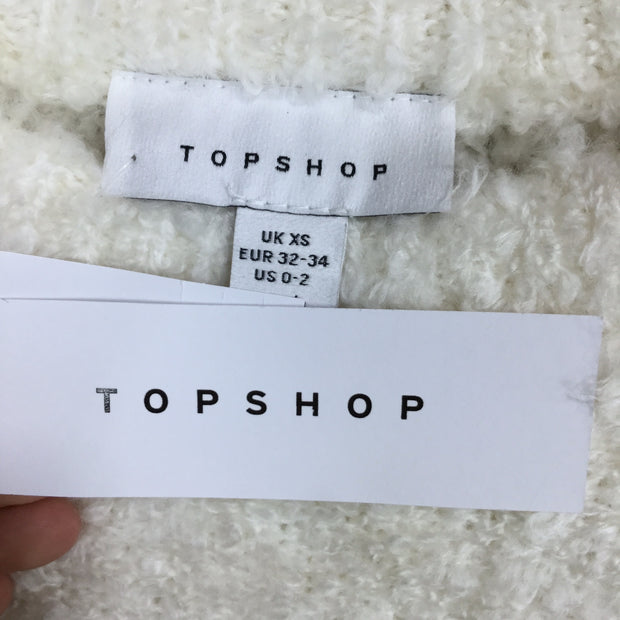 Topshop Long Sleeve Mockneck Wooly Sweater