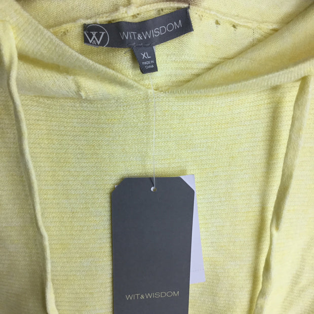 Wit & Wisdom Yellow Ribbed Hoodie