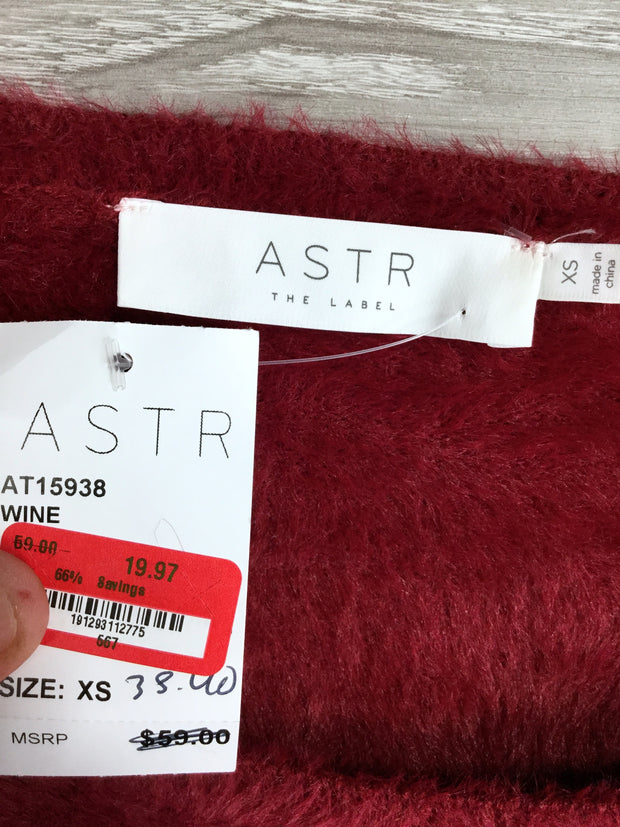 ASTR the Label Fuzzy Crop Sweater