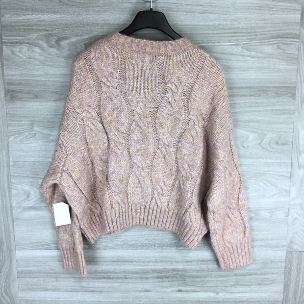 4S13NNA PINK KNITTED LONG SLEEVE SWEATER