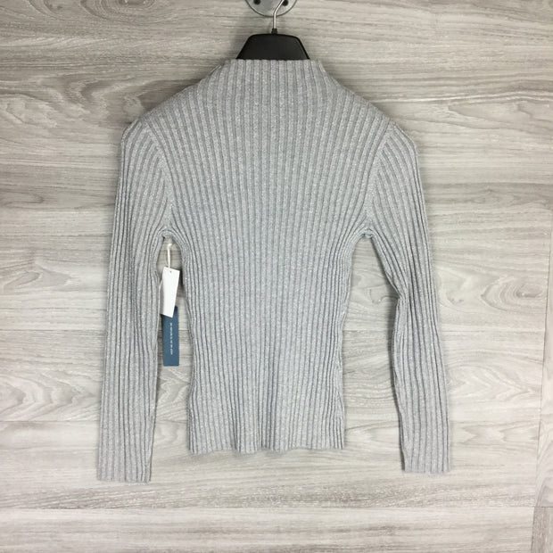 Court & Rowe Belle Noel Silver Heather Cabbage Neck Sweater