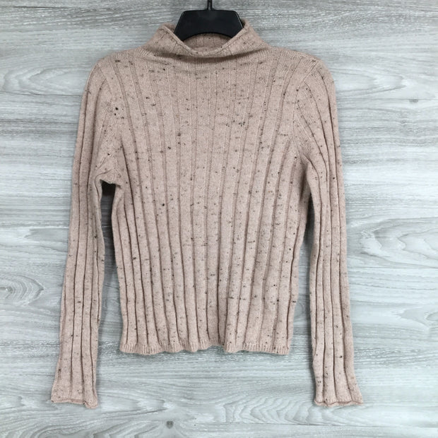 Madewell Speckled Knit Mock Neck Sweater