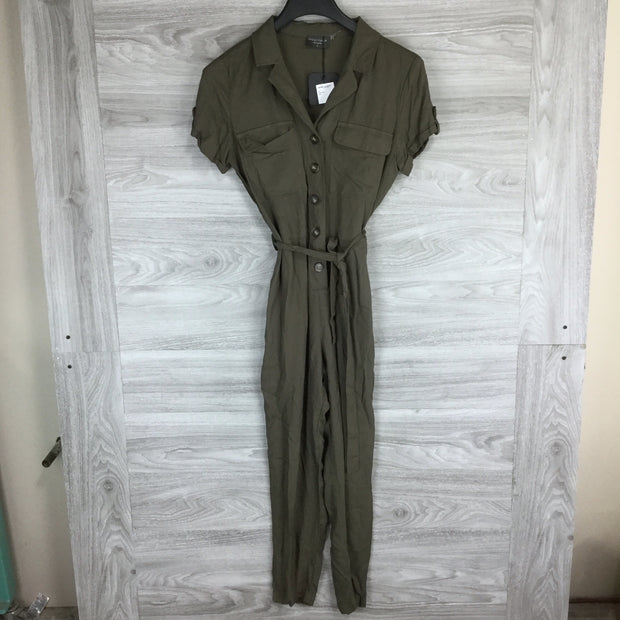 Dress Forum Short Sleeve Button Utility Jumpsuit