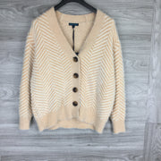 Silect + Trend Stripe Cardigan Sweater